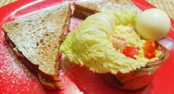 Coconuty Eggelacious Salad with Buttered Snow Sandwich