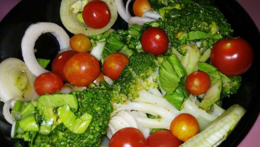 Steamed Broccoli Salad