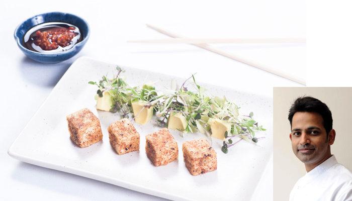 Marinated Tofu with Baby Cress Salad