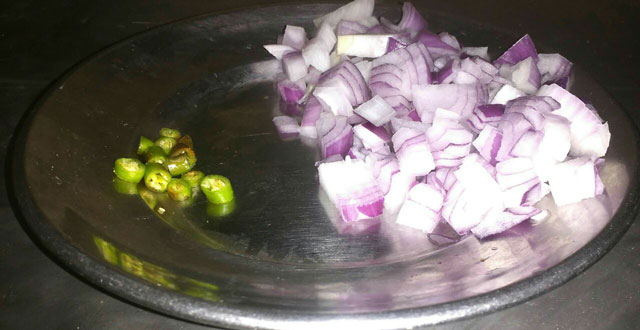 onion and green chilli