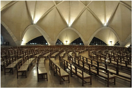 Lotus Temple inside view