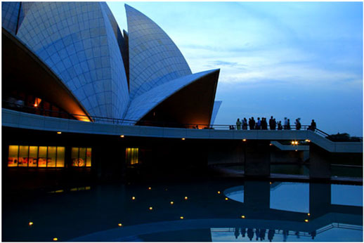 Lotus Temple evening view