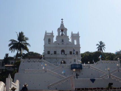 Church outside goa