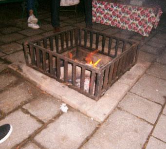 Bonfire at 7 Pines Hotel Kasauli