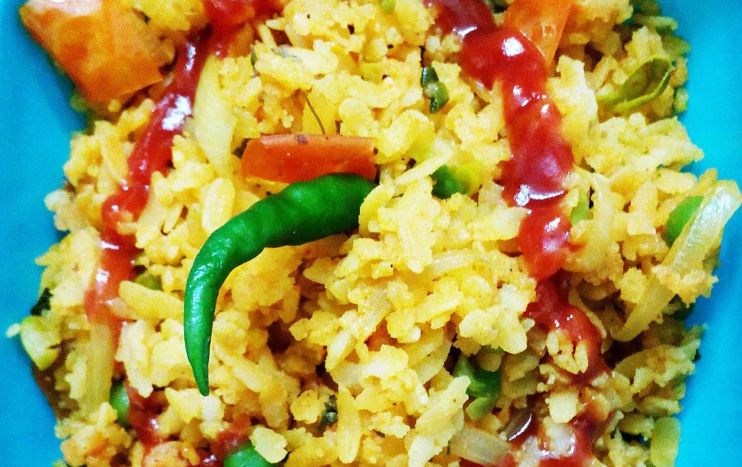 Vegetable Masala Poha