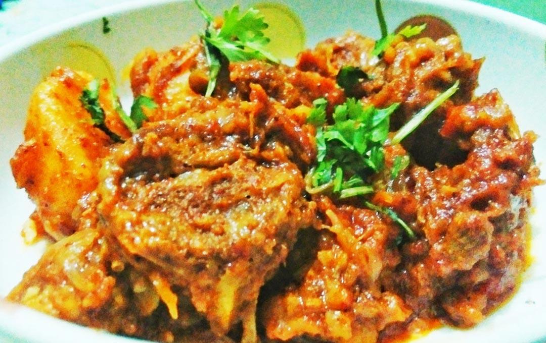 Kadai Mutton Masala Fry