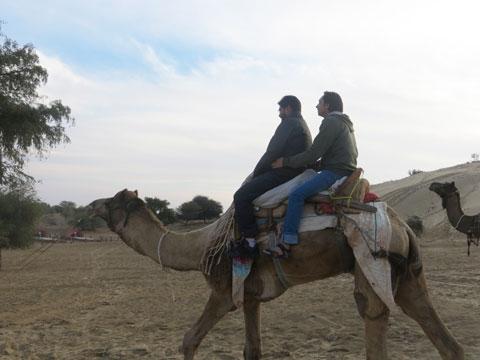 Camel Ride in Desert