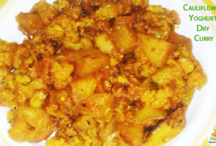 cauliflower yogurt dry curry