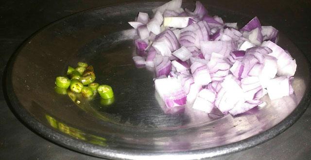 onion and green chilli