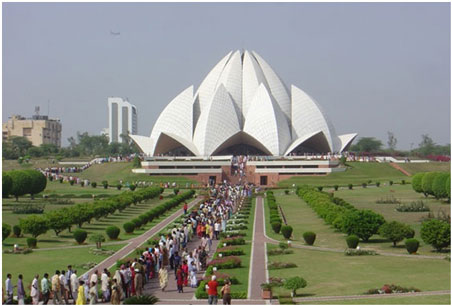 Lotus Temple daytime view