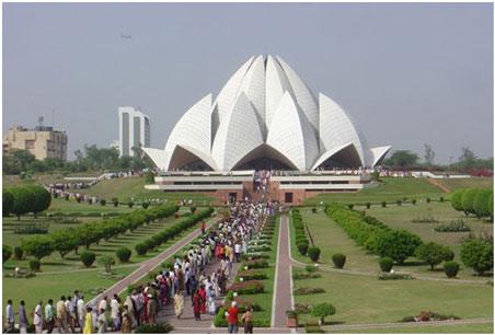 Lotus Temple daytime view