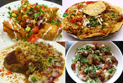 aloo chaat samosa chaat