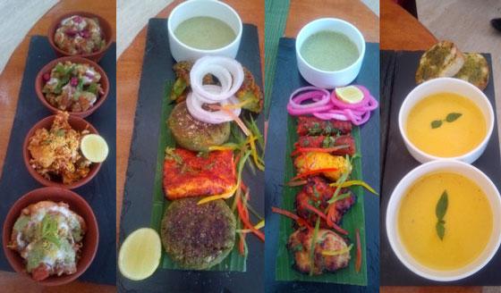 veg tikki and non veg kabab