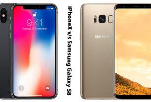 iPhoneX and Samsung Galaxy S8