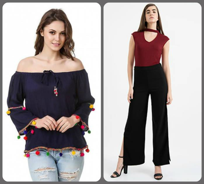 Chokers, Pants and Off Shoulder tops