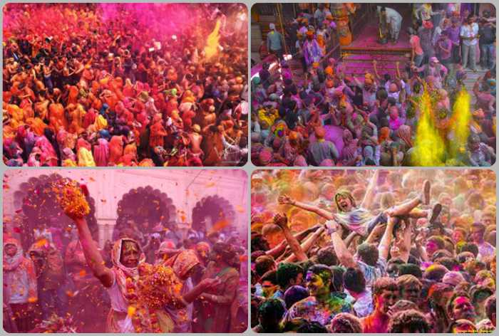 Celebrating Holi in Varindavan