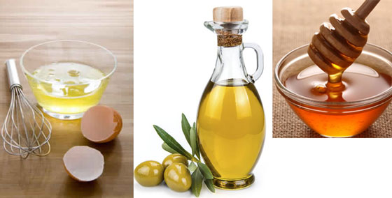 Olive Oil, Honey and Egg for hair