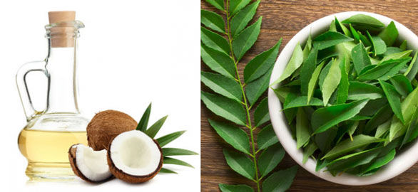 coconut oil and curry leaves for hair