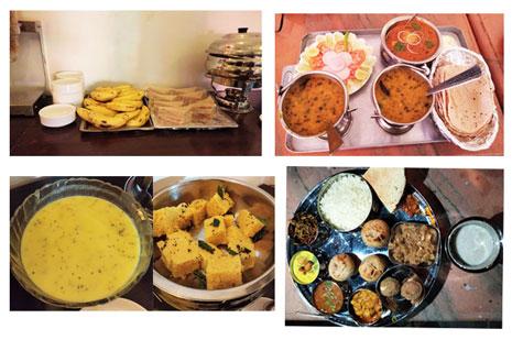 Food at Kotra Haveli