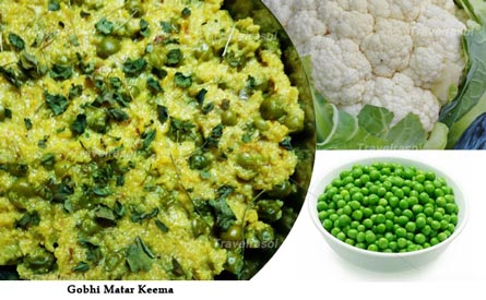 Gobhi Matar Keema for winter food