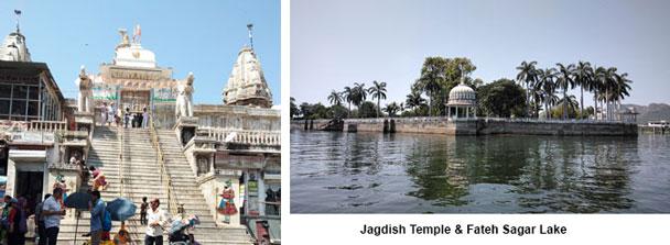 Jagdish Temple and Fateh Sagar Lake Udaipur
