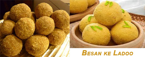 Besan ke Ladoo for Holi Snacks