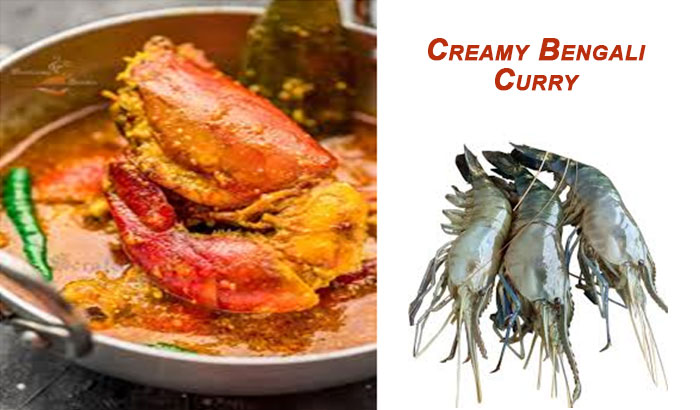 Creamy Bengali Prawn Curry with Coconut Milk – Bengali style-Chingri Malaikari