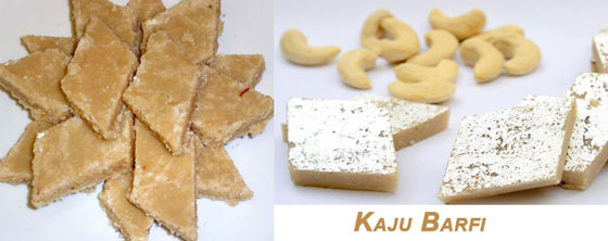Kaju Barfi for Holi Snacks