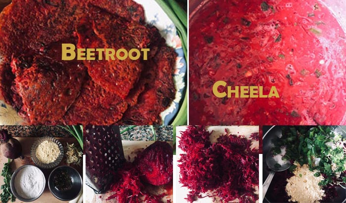 Beetroot Cheela