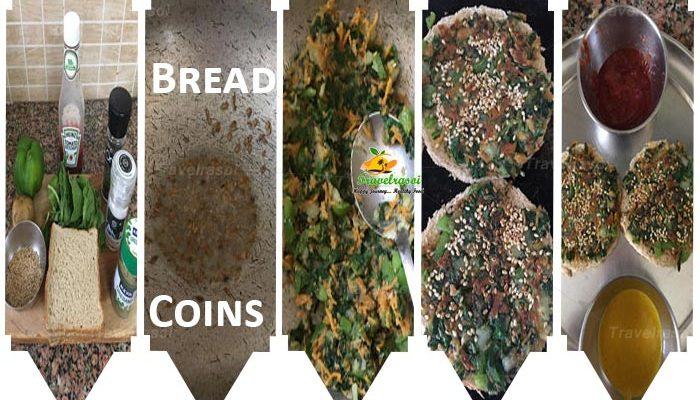 Healthy & Delicious Palak Capsicum Bread Coins