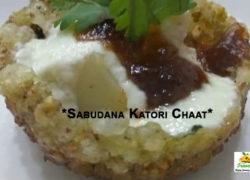 Navratri special Sabudana Katori Chaat