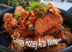 Crispy Honey Arbi (Colocasia Root) Wedges