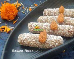 Sweet Dry Fruits Banana Rolls