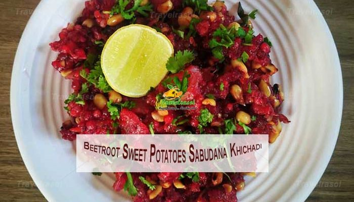 Beetroot Sweet Potatoes Sabudana Khichadi
